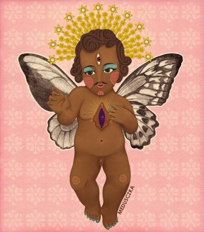 Santa Niña Trans-Mariposa Hermafrodita/Intersexual