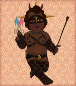 Santa Niña Trans Amazona Dominatrix Destructora de la Heterosexualidad